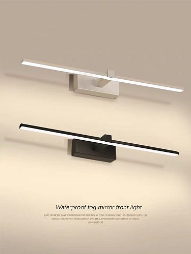 Modern wall mounted led wall lamp black and white bathroom bathroom lamp household lamps large L90 80 60 40cm mirror front lamp
