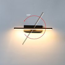 Bedroom Bedside Wall Light 330° Rotatable Adjustable Light Angle Indoor LED Wall Lamp Simple Light Fixture Aluminum AC110/220V