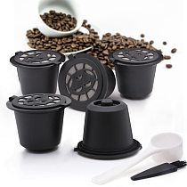1/3PCS Nespresso Refillable Coffee Capsule Cup Reusable Coffee Capsule Spoon Brush Coffee Filters Coffee Accessories