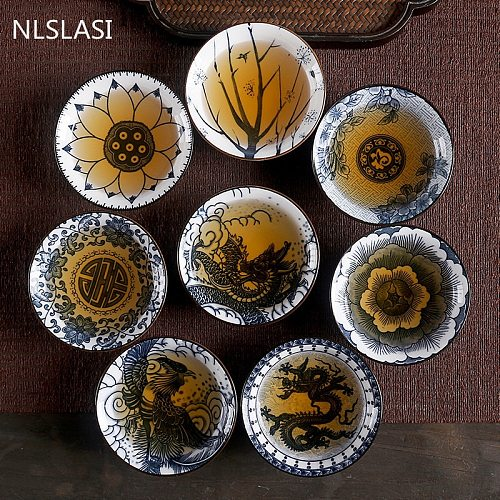 NLSLASI Chinese Ceramic Tea set Tea Set Small Tea Cup Single Cup Blue and White Porcelain Cup Personal Cup Cup Master Cup