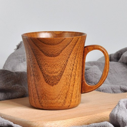 Jujube Wood Cup Natural Spruce Wooden Specialized Coffee Cups Handmade Large China Tea Cup Beer Juice Milk Mugs Drink Cups- Gift