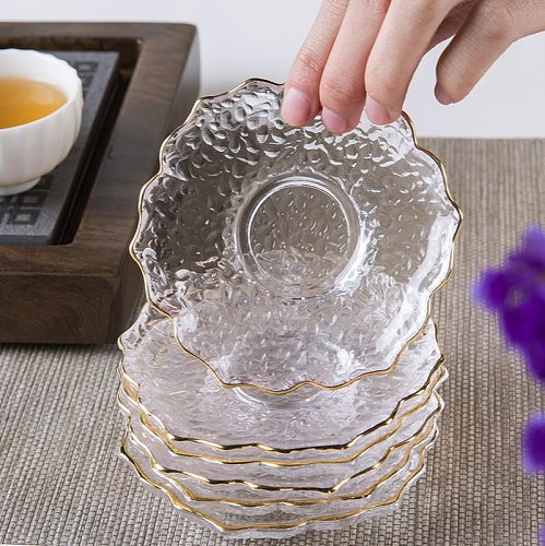 Japanese style glass tea mat Kung Fu tea set accessories god tea cup tea ceremony six gentlemen zero and tea pad 2