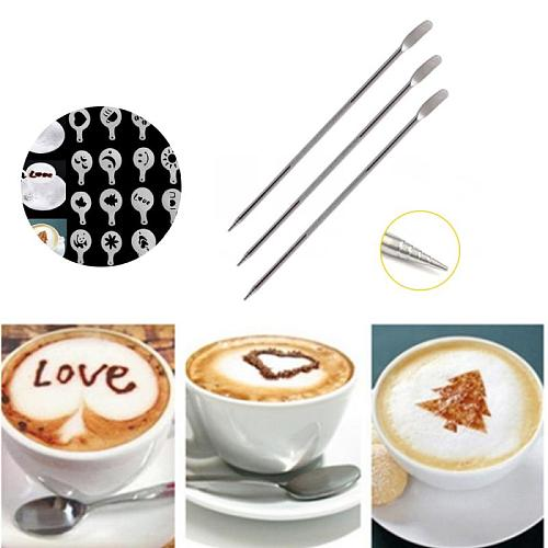 Latte Art Pen For Coffee Cake Spice Needles Cake Decoration Pen Coffee Carving Pen Mixer Baking Pastry Tools Coffeeware