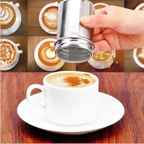 Kitchen Tools Cappuccino Mold Fancy Coffee Printing Model Foam Spray Cake Stencils Coffee Drawing Mold Powdered Sugar Sieve Tool