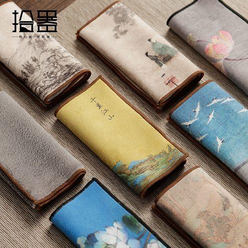 Chinese high-end tea towels tea cloth tablecloth absorbent tea table mats raise pot towels tea mat thickening tea tray table acc