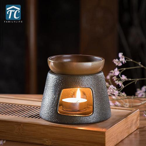 Candle Heating Base Pottery Tea Stov Japanese Ceramic Heater Stand Tea Maker Teapot Warmer Insulation Base Warmer Coffee Water