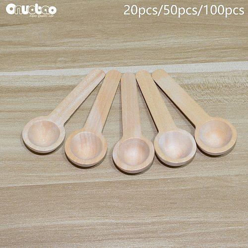 Onuobao 20/50/100pcs Mini Wooden Salt Home Kitchen Cooking Spoons Tool Sugar Tea Spoon Salt Seasoning Honey Coffee Teaspoons