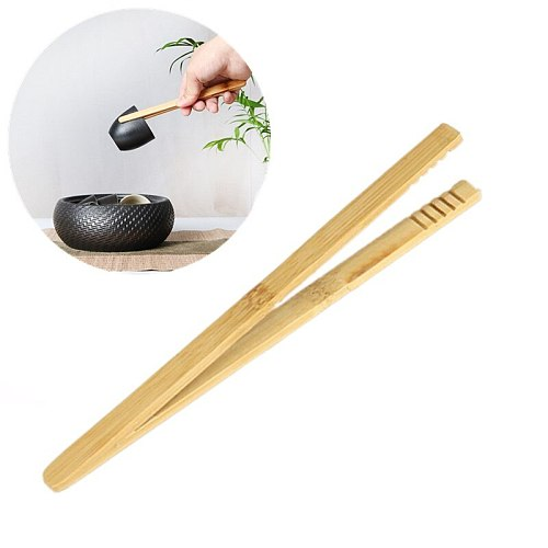 Bamboo Toast Tong Wooden Toaster Bagel Bacon Sugar Ice Tea Tongs Bamboo Tweezers Tea Clip Environmental Straight Bent Clip