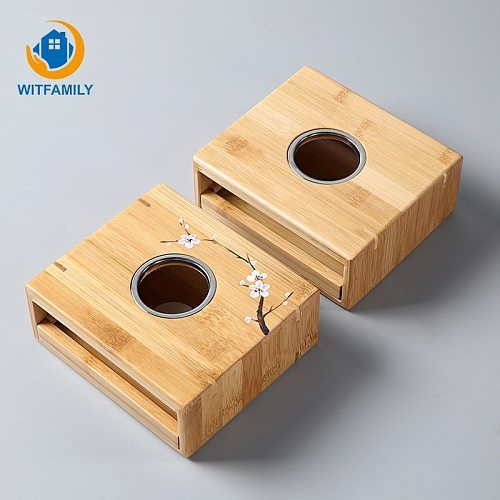 Bamboo Tea Warmer Candle Heating Holder Japanese-style Thermostat Wine Temperature Base Teapot Heater Tea Pot Stove Insulation