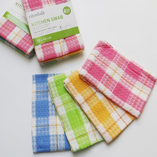 4pcs/pack Small Super Absorbent Kitchen Swab Small Size Tea Towel Healthy Dish Towel Cotton Cleaning Cloth 30cmx40cm
