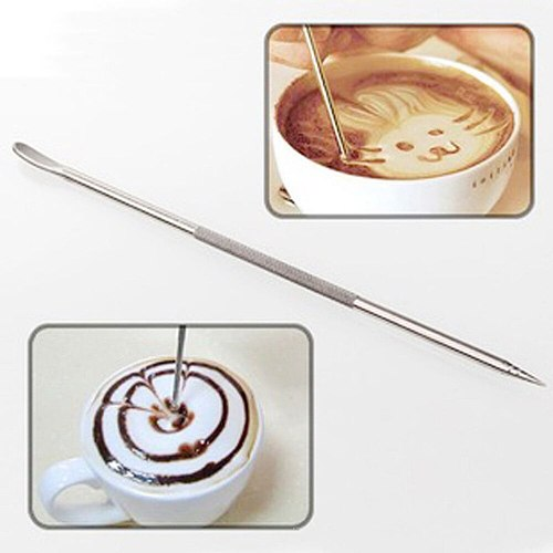 1Pcs Barista Latte Cappuccino Art Pen Stainless Steel Coffee Art Needle Fancy Coffee Stick Tool