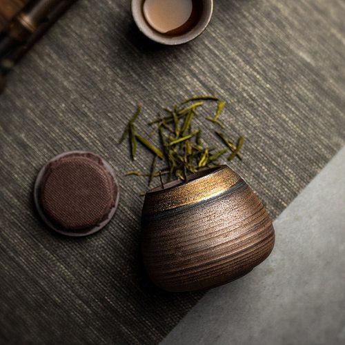 LUWU small size ceramic tea canisters vintage tea jars for storage tea