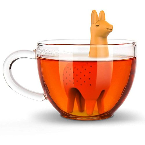 Food Grade Silicone Rubber Como Llama Tea Infuser Alpaca Animal Tea Filter Tea Strainer