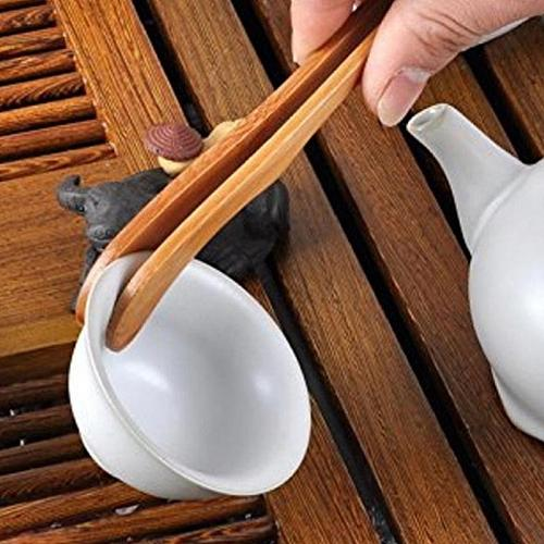 Bamboo Wood Wooden Food Toast Tongs Toaster Bacon Sugar Ice Tea Tong Salad Home