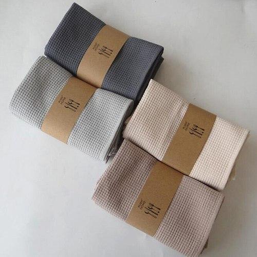 1piece 42x63cm Waffle Tea Towel Absorbent Tea Napkin Tablewares Cleaning Towel 100% Cotton