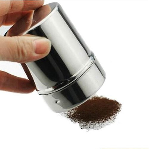 HOT Stainless Steel Chocolate Shaker Cocoa Flour Icing Sugar Powder Coffee Sifter Lid Shaker Cooking Tools Coffee Accessories