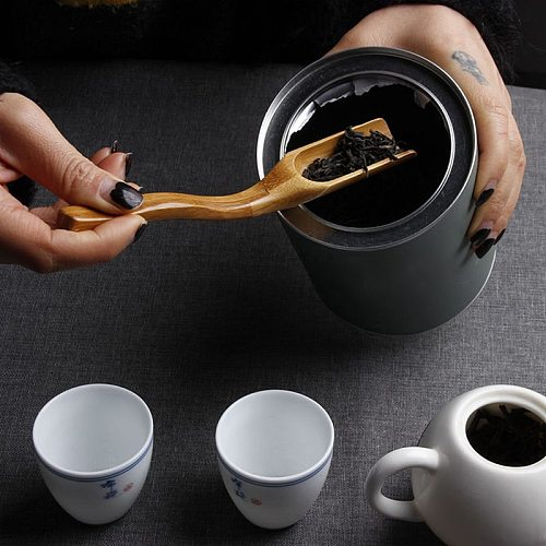 1pc 18CM Chinese Kung Fu Bamboo Tea Coffee Spoon Shovel Matcha Powder Teaspoon Scoop