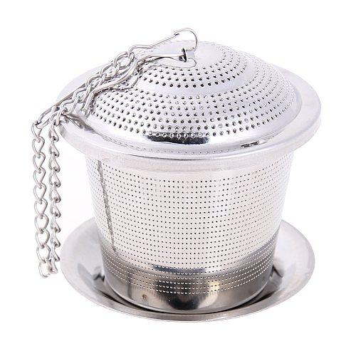 Stainless Steel Mesh Tea Infuser Reusable Tea Strainer Loose Teapot Leaf Spice Filter Tea Strainer Infusor Mesh Tool Accessories