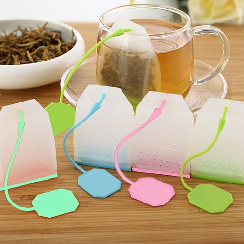 Tea Infuser Food-grade Silicone Mesh Tea Strainer Coffee Herb Spice Filter Diffuser Tea Infusers Makers tea accessories
