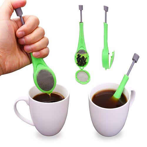 Creative Reusable Tea Infuser Tea Filter Strainers Built-in Plunger Healthy Intense Flavor Tea Bag Plastic Tea Teaware New Hot