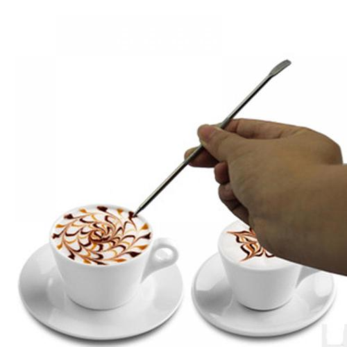 Popular Coffee Latte Stainless Steel Art Pen Tool Espresso Machine Cafe Kitchen HOT