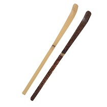 180 * 10 * 10mm Wood Tea Leaf Matcha Sticks Spoon Teaware Black Bamboo Kitchen Tool Spice Gadget Cooking Utensil