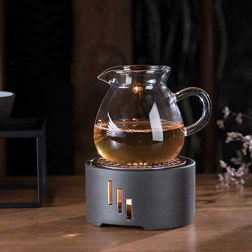 Japanese Candle Heating Base Tea Warmer Kungfu Tea Ceremony Ceramic Boiled Flower Tea Heater Tea Pot Warmer Insulation Base