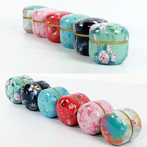 Tea Box Tea Jar Storage Round Mini Candy Box Sealed Holder Tea Caddies Container Food Coffee Powder Organizer Cans Multifunction