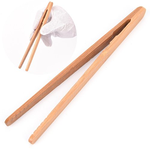 18cm Wooden Tea Tweezer Bacon Tea Clip Tongs Bamboo Kitchen Salad Food Toast