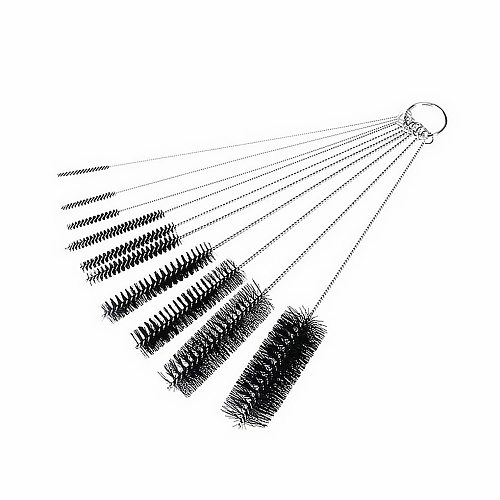 10pcs/set Coffee Machine Brush Bottle Tube Straw Cleaner Washing Glasses Keyboards Jewelry Cleaning Brushes Clean Tools