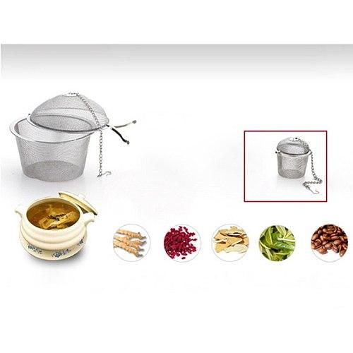 Portable Stainless Steel Tea Strainer Infuser Locking Tea Spice Mesh Herbal Ball Teapot Leaf Filter Coffee Tea Tools Accessories