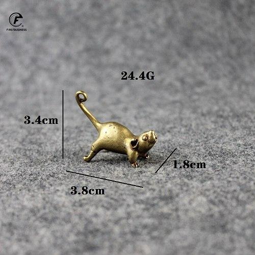 Vintage Brass Rat Snake Tiger Dragon Rabbit Mouse Ornament Copper Animal Miniature Figurine Home Decor Crafts Desktop Decoration