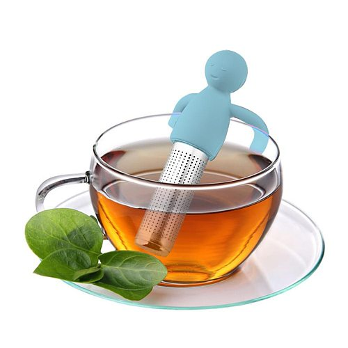 Silicone Tea Strainer Little Man Shaped Tea Infuser Filter Brewing Teapot Tea Infusers Loose Leaf Coffee Filter Tea Accessories