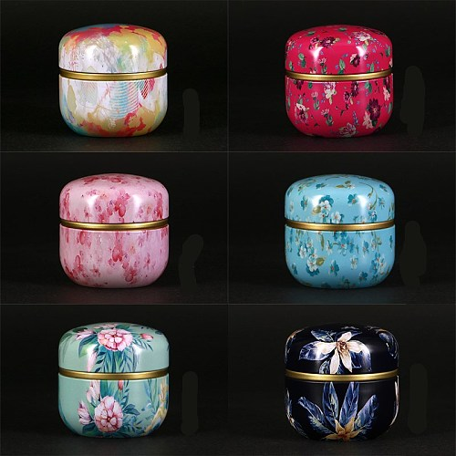 5pcs Japanese style Kitchen Tea Box Jar Storage Holder Sweetmeats Candies Cans Teaware Tea Caddies tin containers storage box