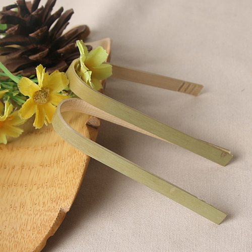 10pcs Wooden Tea Clip Bamboo Kitchen Salad Food Toast Tong Tweezer Bacon Sugar Ice Tea Utensil Teaware Accessories BBQ Tools