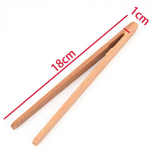 1PCS Kongfu Wood Color Tea Utensil Tweezers Tea Clips 18cm Bamboo Tweezers Textured Bamboo