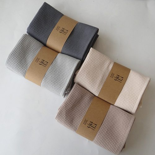 Waffle Tea Towel Cotton Table Napkins Absorbent Dish Cleaning Cloth Home Wedding Party Kitchen Dishes Napkins Handkerchief