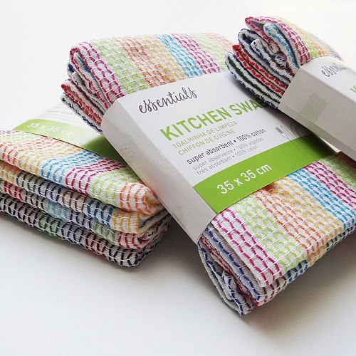 4pcs/pack Small Kitchen Swab Cotton Tea Towel Table Cleaning Cloth Hand Towel Used In Kitchen 35x35cm 13.7 x13.7