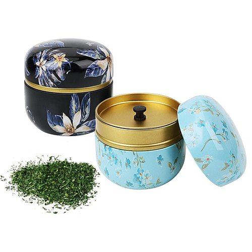 Hot Sale 1pcs Japanese style Kitchen Tea Box Jar Storage Holder Candies Cans Teaware Tea Caddies tin containers storage box