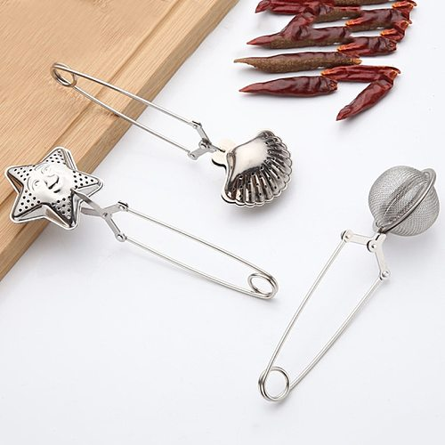 Stainless Steel Tea Infuser Sphere Mesh Tea Strainer Coffee Herb Spice Filter Diffuser Handle Tea Ball Filter Teapot Gadgets