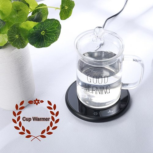 18W 220V Digital Display 55 Degree Tea Warmer Milk Water Cup Warmer Heater Pad Heating Base Teapot Holder Insulation Base