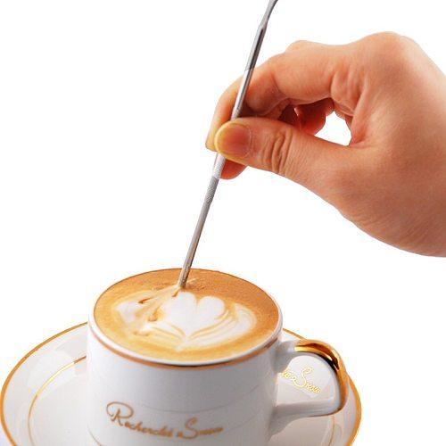 Barista Cappuccino Espresso Coffee Decorating Latte Art Pen Tamper Needle Creative High Quality