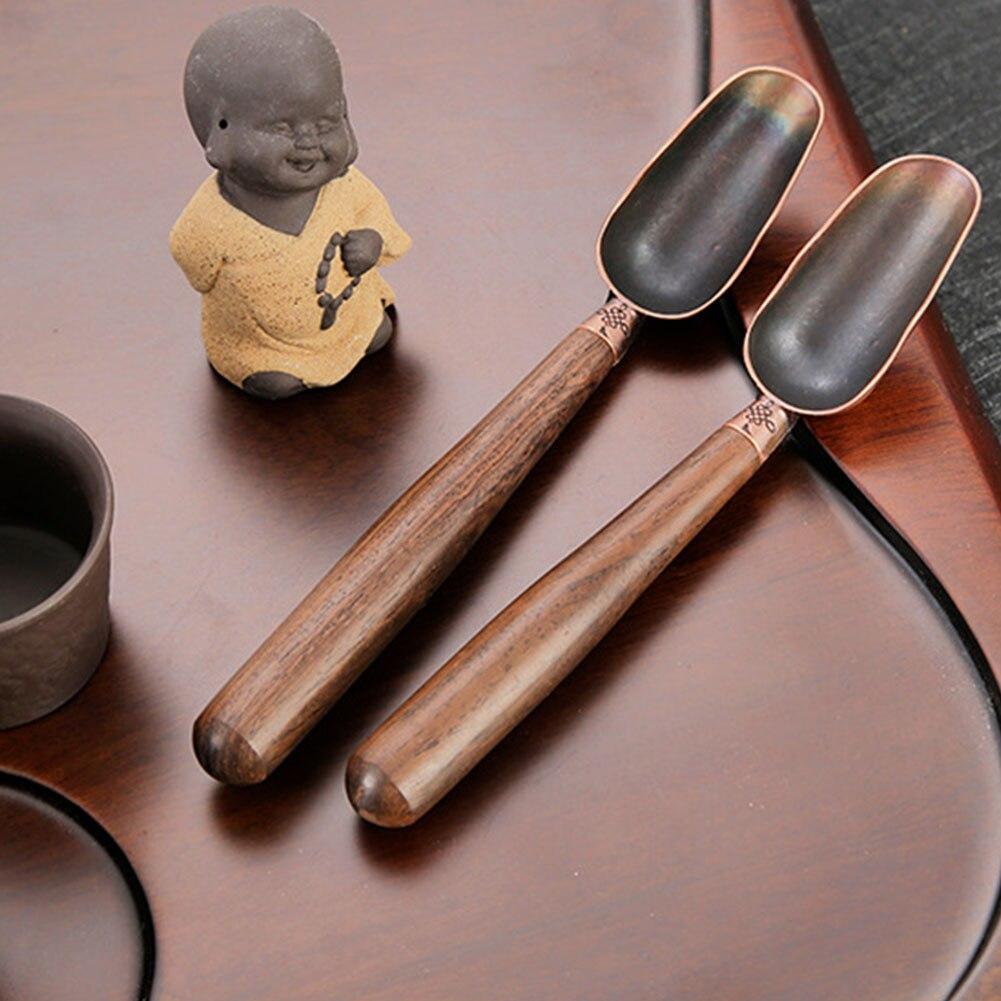 Multipurpose Tool Wooden Handle Easy Clean Anti Sprinkle Tea Spoon Kitchen Coffee Scoops Tableware Metal Accessories Household