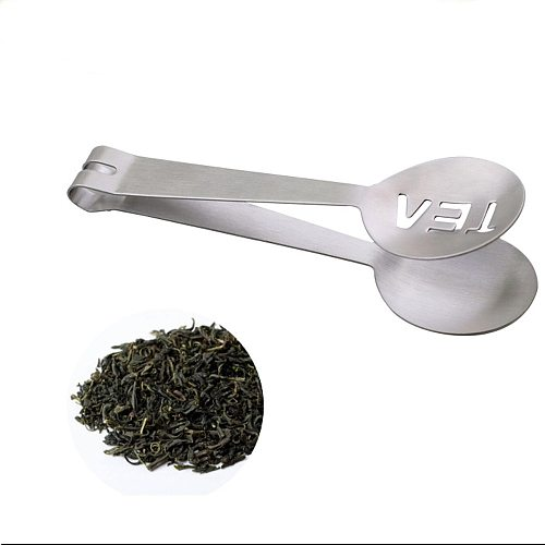 New Reusable Resistant Teabag Quality Food Set Clip Stainless Steel Tea Bag Tong Squeezer Strainer Grip Mini Spoon