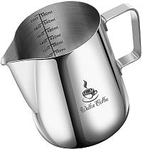Style Espresso Coffee Milk Mugs Cup Pots Jug Handle Craft Coffee Garland Cup Latte Jug Thickened Stainless Steel