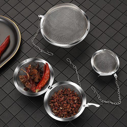 1PC Stainless Steel Tea Ball Strainer Tea Infuser Sphere Locking Spice Mesh Infuser Tea Filter Strainers Kitchen Tools Theezeef