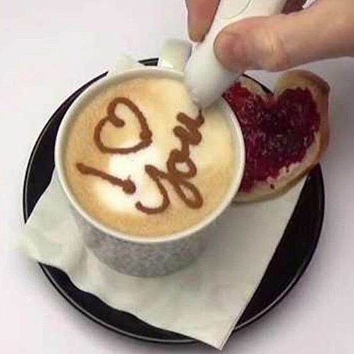 HOT Electrical Latte Art Pen Coffee Cake Spice Pen Cake Decor Coffee Baking Pastry Tool TI99