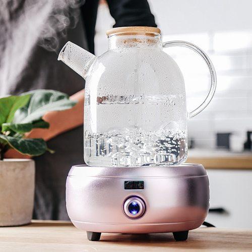 1L/1.5L Big Transparent Borosilicate Glass Teapot Heat-Resistant Large Clear Tea Pot Flower Tea Set Puer Kettle Office Home Tool
