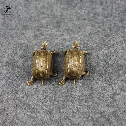 Vintage Brass tortoise Sea Turtle Statue Ornaments Copper Aquatic Animals Figurines Home Desk Decorations Accessories Tea Pets