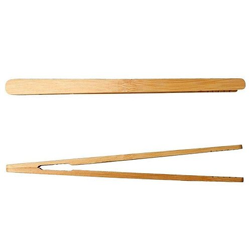 8pcs Wooden Tea Clip Bamboo Kitchen Salad Food Toast Tong Tweezer Bacon Sugar Ice Tea Utensil Teaware Accessories
